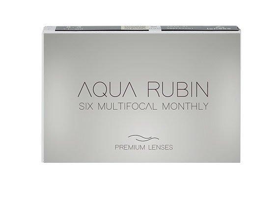 Aqua Rubin Premium - Six multifocal monthly (6 lentilles)